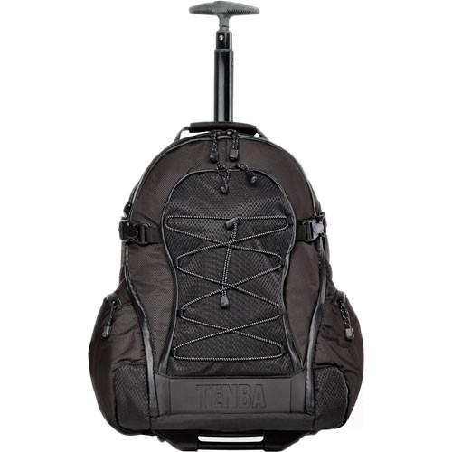 Tenba Shootout Rolling Backpack, Medium (Black)