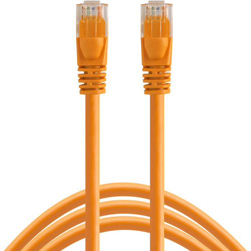 Tether Tools 50' (15.24 m) TetherPro Cat6 550 MHz Network Cable (Hi-Visibility Orange)
