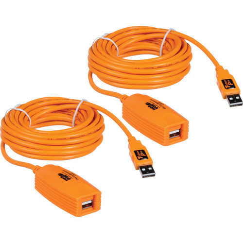 Tether Tools TetherPro USB 2.0 Active Extension Cable (32', Orange)