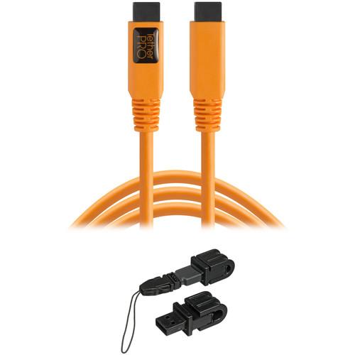Tether Tools TetherPro FireWire 800 Cable & Jerkstopper Tethering Kit (Orange)