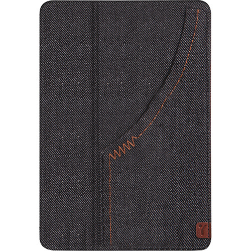 The Joy Factory Denim Ultra-Slim Snap-on Case/Stand With Front Pocket for iPad mini