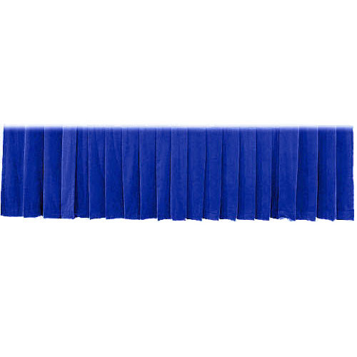 "The Screen Works Drapery Panel for the 12'x50"" Classic Screen - Velour - Blue"