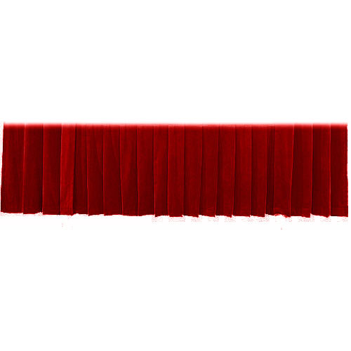 "The Screen Works Drapery Panel for the 12'x50"" Classic Screen - Velour - Burgundy"