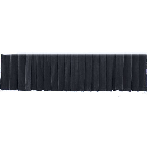 "The Screen Works Drapery Panel for the 12'x50"" Classic Screen - Velour - Black"