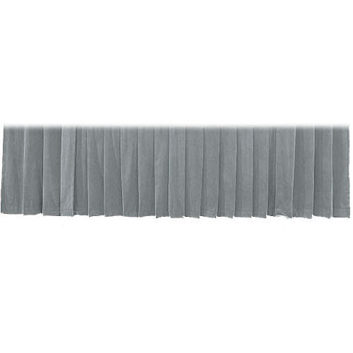 """The Screen Works Drapery Panel for the 12'x50"""" Classic Screen - Velour - Gray"""