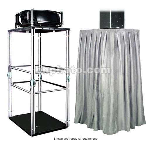 The Screen Works E-Z Fold Equipment Tower Kit - Velaire/Gray