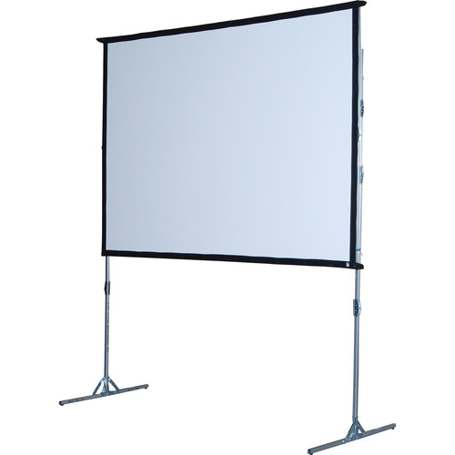 """The Screen Works E-Z Fold Portable Front  Projection Screen - 7'4"""" x 10'10"""" - Audio-Visual Format - Matte White"""