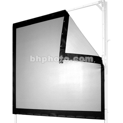 "The Screen Works EZF821311MW 7'6"" x 13' E-Z Fold Single-Tube Portable Front Projection Screen - Matte White"
