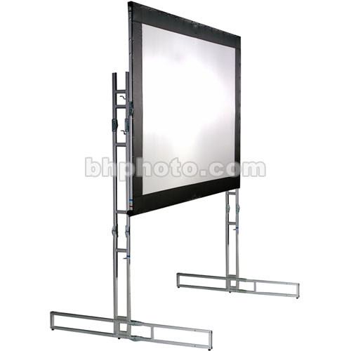 The Screen Works E-Z Fold Truss Style Front  Projection Screen - 10x28' - Multi-Image Format - Matte White