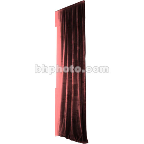 The Screen Works Truss Drapery Panel - 18x6' - Burgundy