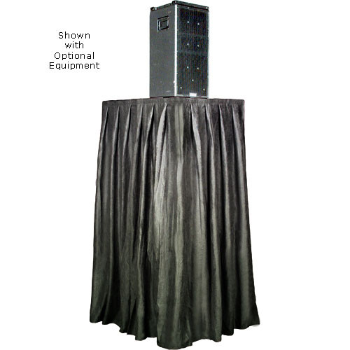 The Screen Works Skirt for the E-Z Fold Equipment Tower - Skirt ONLY - Velaire/Black