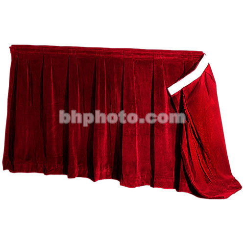 """The Screen Works 48"""" Skirt for E-Z Fold Truss Projection Screen-10x28'- Burgundy"""