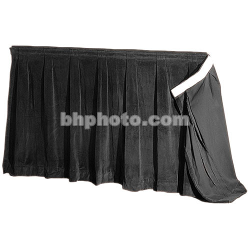 """The Screen Works 48"""" Skirt for E-Z Fold Truss Projection Screen-10x28'- Black"""