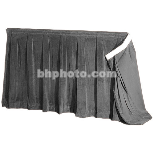"""The Screen Works 48"""" Skirt for E-Z Fold Truss Projection Screen-11'6""""x15'- Gray"""