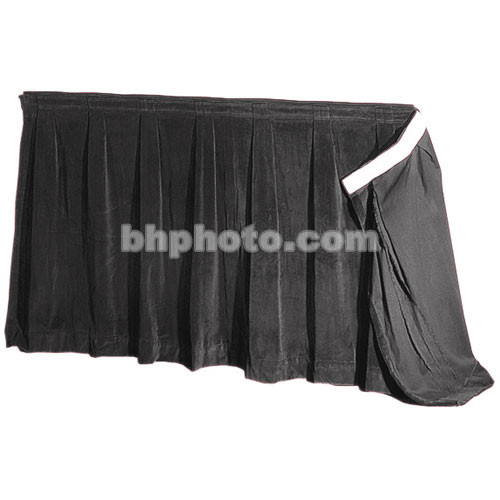 """The Screen Works 48"""" Skirt for E-Z Fold 13'x22'3"""" Truss Projection Screen - Black"""