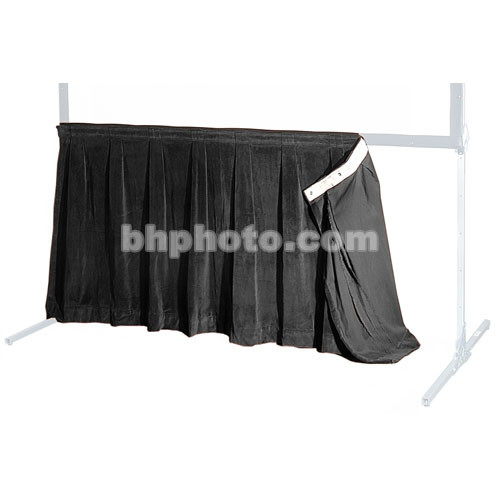 """The Screen Works 48"""" Skirt for the 6'4""""x9'4"""" E-Z Fold Projection Screen - Black"""