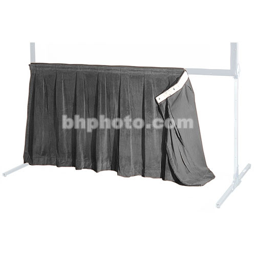 """The Screen Works 48"""" Skirt for the 6'4""""x9'4"""" E-Z Fold Projection Screen-Gray"""