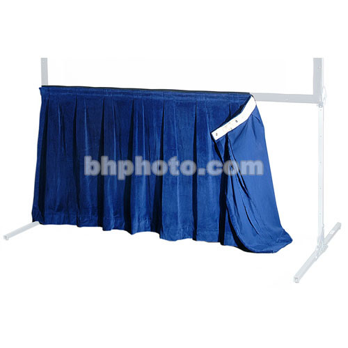 """The Screen Works 48"""" Skirt for E-Z Fold 8x22' Truss Projection Screen - Blue"""