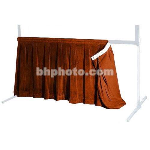 """The Screen Works 48"""" Skirt for the 8'4""""x12'4"""" E-Z Fold Projection Screen-Burgundy"""