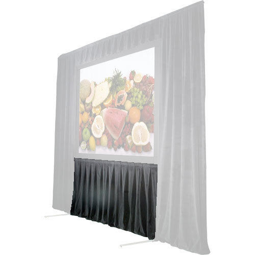 """The Screen Works 48"""" Skirt for the 5'6""""x7' Stager's Choice Projection Screen - Gray"""