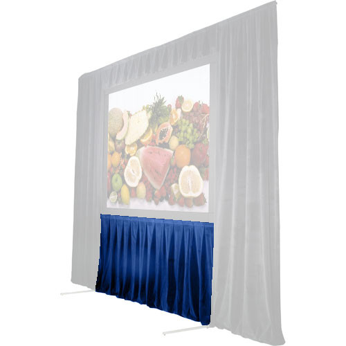 "The Screen Works 48"" Skirt for Stager's Choice Projection Screen-8x22'-Blue"