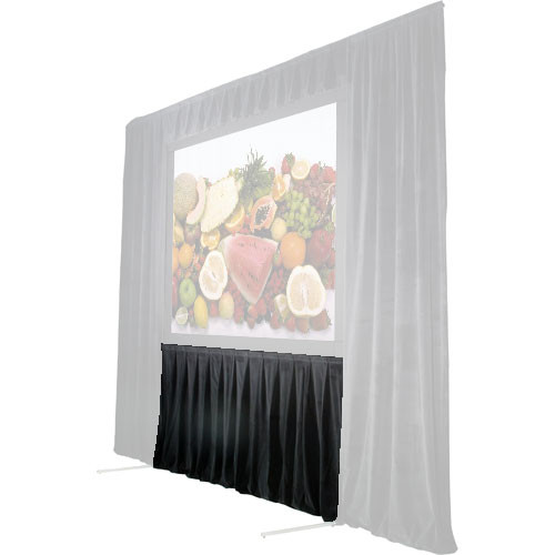 "The Screen Works 48"" Skirt for Stager's Choice Projection Screen-8x22'-Black"
