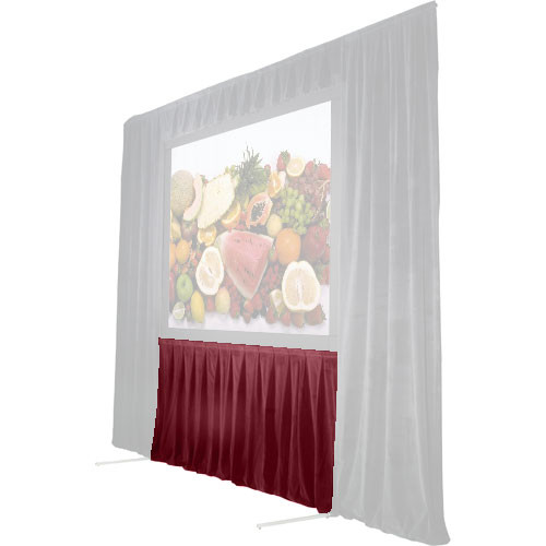 """The Screen Works 48"""" Skirt for Stager's Choice Projection Screen-8'6""""x11'-Burgundy"""