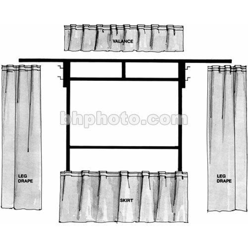 The Screen Works Trim Kit for the E-Z Fold 10x10' Projection Screen (Black)