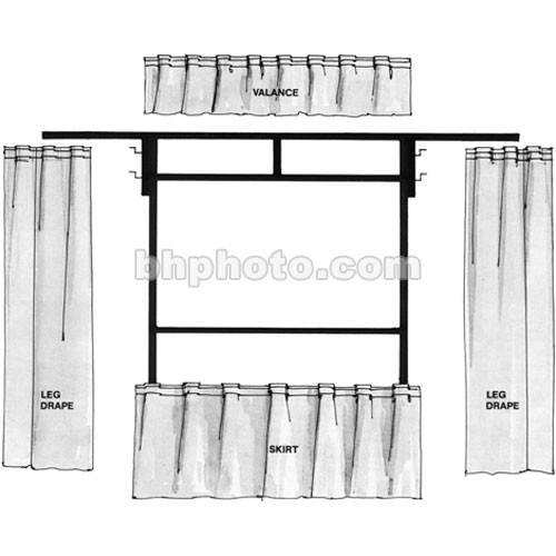 """The Screen Works Trim Kit for the E-Z Fold 10'6""""x14' Projection Screen (Black)"""