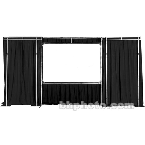 The Screen Works Trim Kit for the E-Z Fold Truss 11x11' Projection Screen - Black