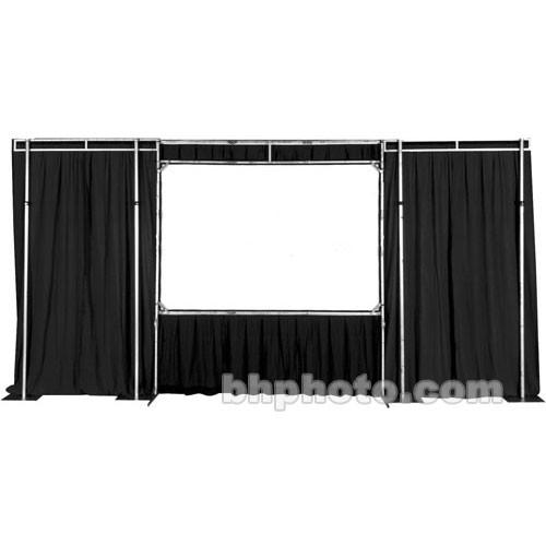 "The Screen Works Trim Kit for the E-Z Fold Truss 16'x27'6"" Projection Screen - Black"