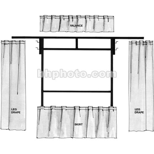 """The Screen Works Trim Kit for the E-Z Fold 4'4""""x6'4"""" Projection Screen (Black)"""