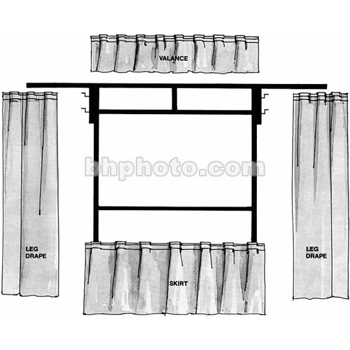 The Screen Works Trim Kit for the E-Z Fold 8x8' Projection Screen (Black)