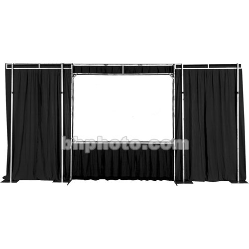 The Screen Works Trim Kit for the E-Z Fold Truss 9x9' Projection Screen - Black