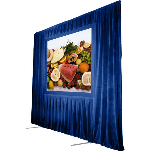 """The Screen Works Trim Kit for the Stager's Choice 5'6""""x7' Projection Screen - Blue"""