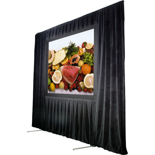 "The Screen Works Trim Kit for the Stager's Choice 5'6""x7' Projection Screen - Black"