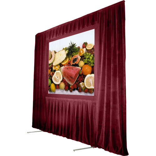 The Screen Works Trim Kit for the Stager's Choice 6x16' Projection Screen - Burgundy