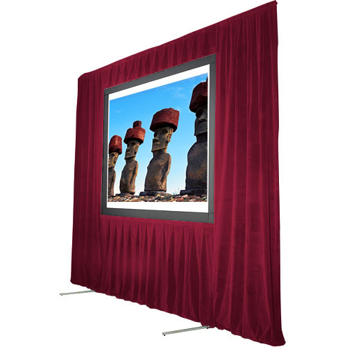 "The Screen Works Trim Kit for the Stager's Choice 8'6""x14' Projection Screen - Burgundy"