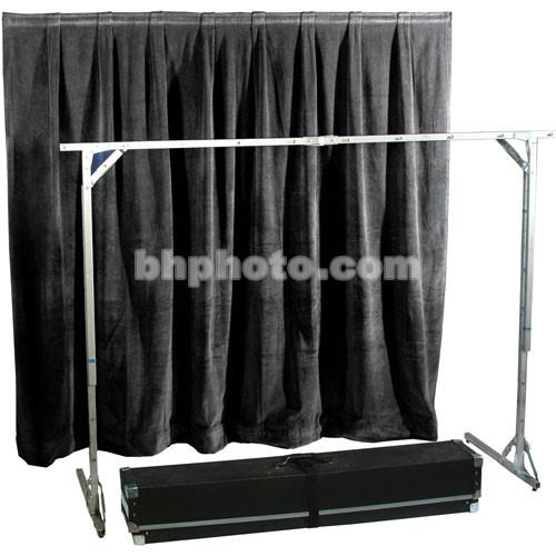 The Screen Works E-Z Fold Tech Surround - Velour - Black