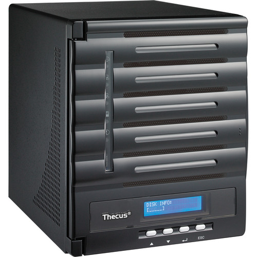 Thecus 10TB (5x 2TB) N5550 5-Bay Enterprise NAS Kit with WD Red SATA Hard Drives