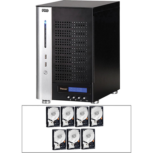 Thecus 14TB (7x 2TB) N7700PRO v2 7-Bay Tower NAS Server and Hard Drives Kit