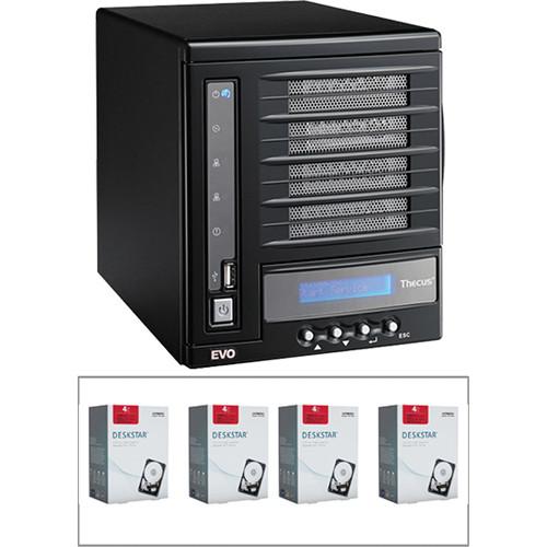 Thecus 16TB (4 x 4TB) N4100EVO 4 Bay NAS Server B&H Kit