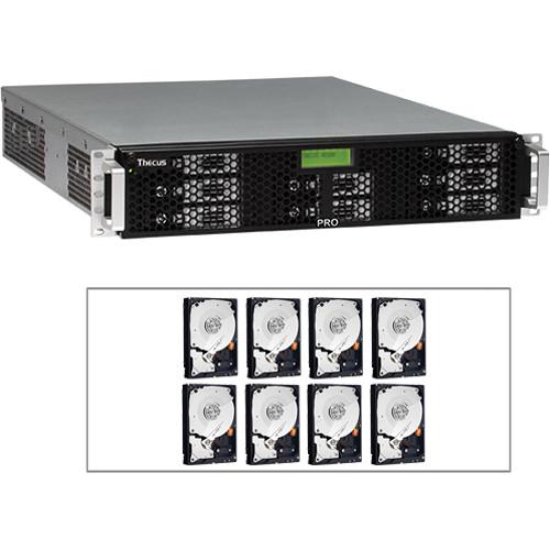 Thecus 16TB (8x 2TB) N8800PRO v2 2U NAS Server with Hard Drives Kit