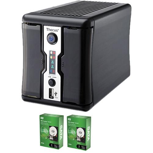 Thecus 2TB (2x1TB) N2200PLUS Home NAS Server Kit