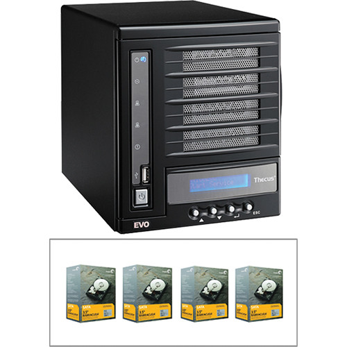 Thecus 4TB (4 x 1TB) N4100EVO 4 Bay NAS Server B&H Kit