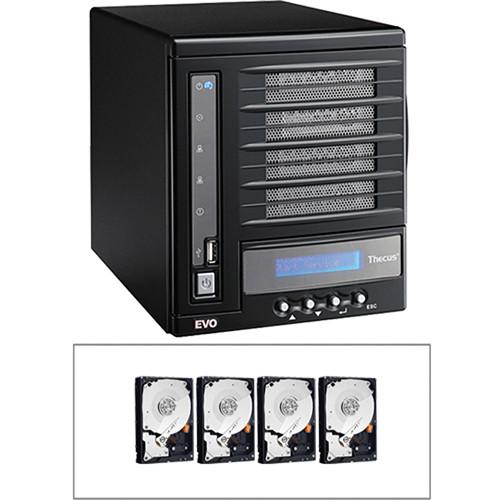 Thecus 8TB (4 x 2TB) N4100EVO 4 Bay NAS Server B&H Kit