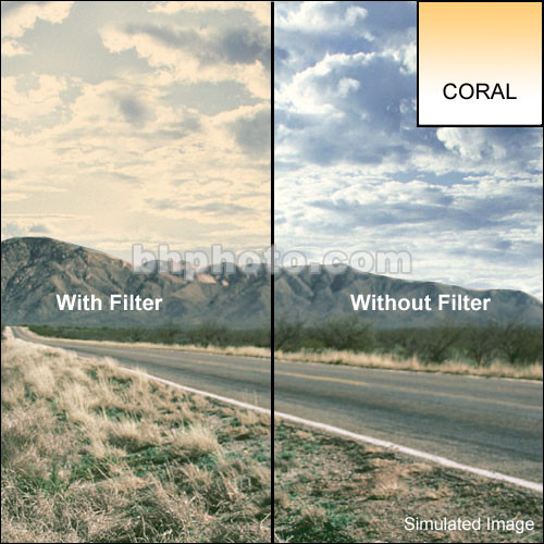 "Tiffen 2 x 2"" 1 Coral Soft-Edge Graduated Filter"