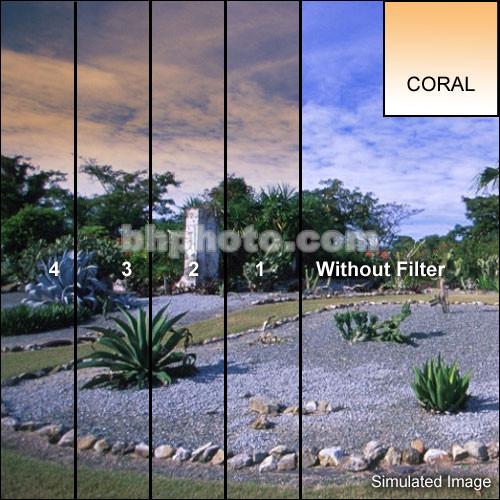 "Tiffen 2 x 2"" 4 Coral Soft-Edge Graduated Filter"