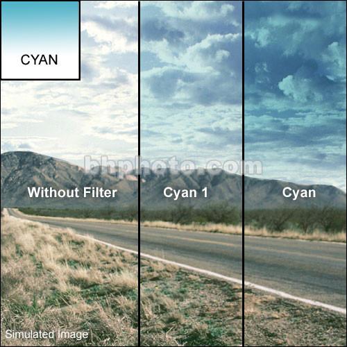 """Tiffen 2 x 2"""" 1 Cyan Soft-Edge Graduated Filter"""