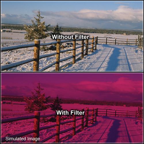 "Tiffen 2 x 2"" 3 Cranberry Solid Color Filter"